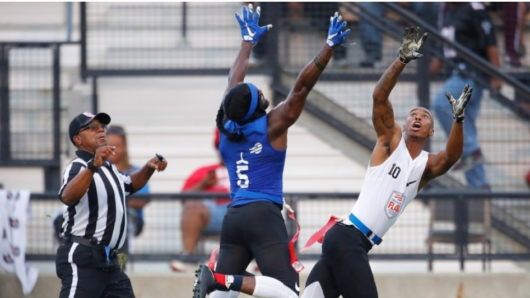 Former LSU hoops standout enjoying spotlight from NFL cameras on flag football field