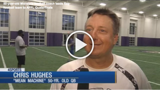 Fox10: 50-year-old Mid-State Football Coach Leads Flag-Football Team to AFFL Quarterfinals