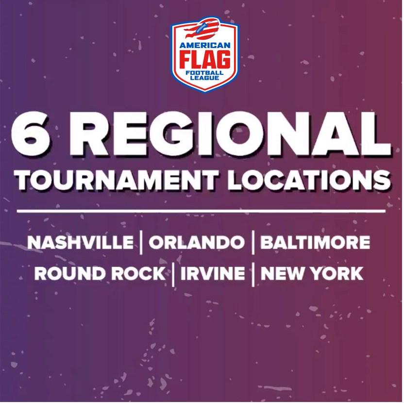 6 Regional Tournament Locations